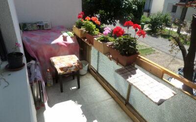 Fürdőnél Madách utcán Bánomkert elején eladó 1 emeleti szigetelt lakás kis kerttel