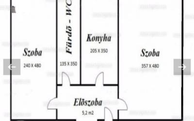 Szilfákalján 50 m2-es 2 szobás 4.emeleti lakás eladó