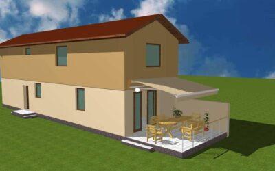 Bánom kertben eladó 2020 -ban épült családi ház nagy terasszal kis kerttel
