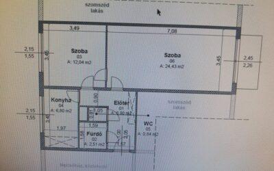 Major utcán 2 szobás erkélyes lakás eladó alkalmi áron